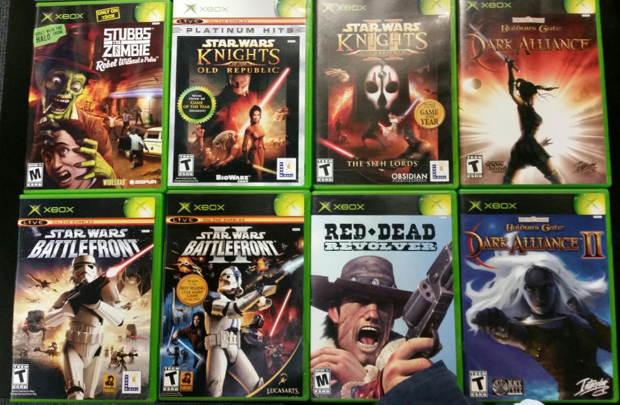 Original Xbox Game Ship : Star wars w michigan play n trade