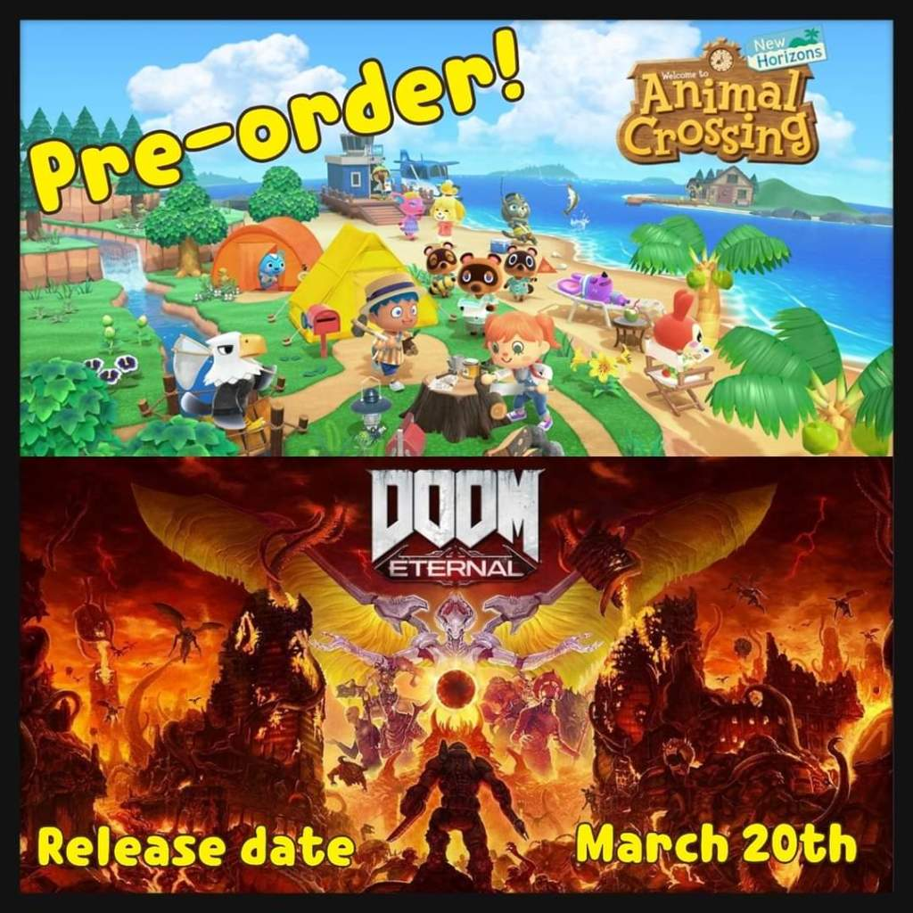 ACNH & DOOM ETERNAL PREORDER